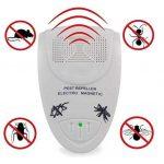 Répulsif Ultrason Contrôle antiparasitaire Électroménager électronique à ultrasons intérieur, totalement sécurisé pour les humains et les animaux domestiques, repousse les insectes Les souris, les rats, les rongeurs, les cafards, la mouche, la fourmi, l'a image 2 produit
