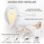 Répulsif Ultrasonique de Ravageurs (4 pièces) Qoosea Ultrasonique avec Anti-moustiques Répulsif contre les Ravageurs Répulsif électromagnétique plug in, éliminer, Cafards, Souris, Araignées, Puces, Mouches, Insectes, Moustiques, etc. 100% sûr pour l'homme image 2 produit