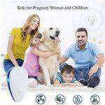 Répulsif à ultrasons antiparasitaires, ANGTUO 2 Pack UPGRADED Insectifuge contrôle électronique de lutte contre les insectes, les souris, les rats, les araignées, les puces, les cafards, les punaises de lit, les moustiques - Humain / Pet Safe de la marque image 4 produit