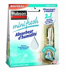 Rubson 1940376 Minifresh Sachet d'Absorbeur d'humidité 2 pièces 50 g Neutre de la marque Rubson image 0 produit