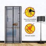 Sekey 220 x 130cm Rideau de porte magnétique anti-insectes, porte moustiquaire magnétique idéal pour portes de balcon,de sous-sol,de terrace (peut etre coupé en hauteur et en largeur)par la colle de montage facile,de couleur noir, 220x130 cm de la marque image 2 produit