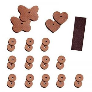 Set anti-nuisibles 29 pièces - Anti: antimite et papillons en cèdre naturel (sans produits chimiques) - avec ficelle et papier de verre pour le bois de la marque Lantelme image 0 produit