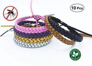 Sinwind Bracelet anti-moustique, 10 Pcs 5 Couleur 100% Naturel sans Deet, Pour Adultes et Enfants Protection Extérieure Intérieure de la marque Sinwind image 0 produit