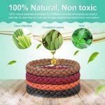 Sinwind Bracelet anti-moustique, 10 Pcs 5 Couleur 100% Naturel sans Deet, Pour Adultes et Enfants Protection Extérieure Intérieure de la marque Sinwind image 1 produit