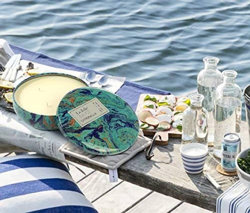 Ext/érieur /& Int/érieur 100/% Cire de Soja Naturel /écologique La Jol/íe Muse Bougie Citronnelle Anti-Moustique Bougie Anti-Insecte Mouche pour Cadeau Voyage 75 Heures