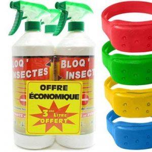 Stone Guard Bloq Insectes lot de 3x1L + 3 Pulvérisateurs + 1 Bracelet Anti-Moustiques de la marque Stone Guard image 0 produit