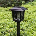 Sunlera Extérieur à énergie solaire tueur Bug antiparasite sans fil Jardin Pelouse Lumière LED piège anti-moustique insectes Zapper de la marque Sunlera image 2 produit