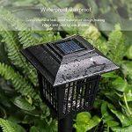 Sunlera Extérieur à énergie solaire tueur Bug antiparasite sans fil Jardin Pelouse Lumière LED piège anti-moustique insectes Zapper de la marque Sunlera image 4 produit