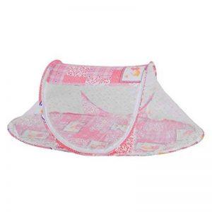 TAOtTAO Lit Bébé pliable Moustiquaire en maille filet de berceau enfant 110*60*38cm rose de la marque TAOtTAO image 0 produit