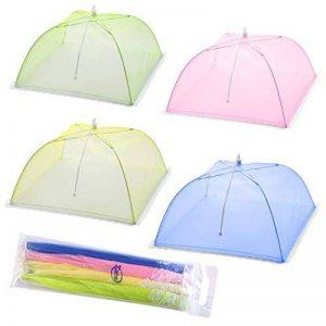 Tentes de couverture de nourriture d'écran de maille - ensemble de 4 écrans de parapluie pour garder des insectes et des mouches loin de la nourriture aux pique-niques, BBQ et plus - 4 couleurs (rose, vert, bleu, jaune) de la marque XONOR image 0 produit