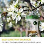 TOPKUNDENSERVICE topk unden Service Wasp Trap Catcher, vie en plein air solaire CAS avec lumière LED UV Set de 2, pour les abeilles, les guêpes, frelons, jaunes Vestes, réutilisable de la marque TOPKUNDENSERVICE image 4 produit
