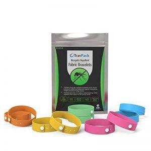 TravPack® Bracelets anti-moustiques (x10) – Leader du marché insecticide et anti moustiques, scientifiquement conçu avec 250 heures utilisation par Bracelet. Arrêter les moustiques, avec notre antimoustiques et anti-insectes! de la marque TravPack image 0 produit