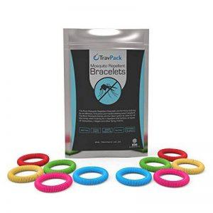 travpack® Premium Bracelets anti-moustiques (x10)–Garder les moustiques à Now. marché Leader anti-insectes, scientifiquement conçu avec 250heures utilisation par Bracelet. de la marque TravPack image 0 produit