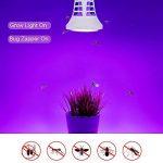 tue-mouches Plante ampoules, Auledio 2en 1d'insectes et de LED Lampes de serre E27électrique Bug Zapper lampe UV 8W 220V Full Spectrum Rouge Bleu lumière de croissance pour Home Garden Serre–Blanc de la marque Auledio image 4 produit