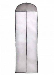 TUKA 180 cm longueur Housse de protection Respirante pour Vêtements plus longs et Robes de Mariée, pour Robes, costumes, manteaux, vestes, pantalons etc., Noir, TKB1005 black de la marque TUKA image 0 produit