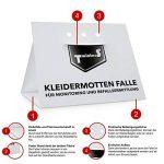 TwinterS - Piège à phéromones contre les mites textiles, mites de vêtements, tapis en laine, linge de lit (10) de la marque TwinterS image 1 produit