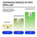 Ultrasons Pest Control, KACOOL Pest Control non toxique à ultrasons sûr pestrepeller avec fiche, anti-moustiques à ultrasons répulsif Antiparasitaire pour moustiques, souris, fourmis, cafards, araignées, lézards, mouches, programme erreur (2 Pack) de la m image 4 produit