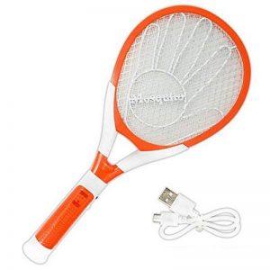 USB Rechargeable Zapper Racket électronique Anti-moustique tapette à mouche Insectes électrique Bat avec lampe LED pour l'intérieur extérieur de la marque YUNEED image 0 produit