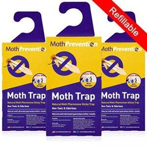 Valeur Pack 3x naturel Mottlock Piège antimites–Best Catch taux Piège antimites pour vêtements mites sur le marché. de la marque Aries image 0 produit