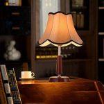 Vintage Lampe de Table En Bois Creative Tissu Lampe de Bureau Réglable Lumière Led Chaude Lumière Lampe de Contrôle à distance Chambre Lampe Hôtel Lampe Restaurant Lampe Salon Lampe de la marque Freya image 1 produit