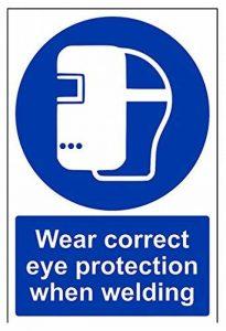 Vsafety Porter Bon oeil protection lors du soudage obligatoire Ppe Panneau, autocollant, portrait de la marque VSafety image 0 produit