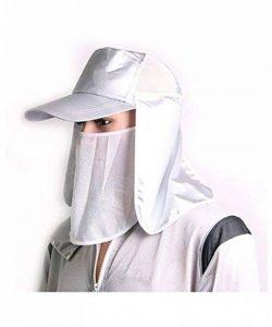 WENZHE Été Aux Pêche Lutte antiparasitaire Anti-moustique Antistatique Cap Protection respiratoire Protection solaire Masque de pêche Masque Net (Couleur : Blanc) de la marque WENZHE-nanmao image 0 produit
