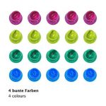 WINTEX 24 punaises magnetiques en 4 couleurs parfaits pour tableaux blancs, réfrigérateurs et les cartes | 2 ans de garantie satisfaction | aimants de couleur, aimants pour tableau blanc de la marque WINTEX image 2 produit