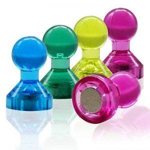 WINTEX 24 punaises magnetiques en 4 couleurs parfaits pour tableaux blancs, réfrigérateurs et les cartes | 2 ans de garantie satisfaction | aimants de couleur, aimants pour tableau blanc de la marque WINTEX image 0 produit