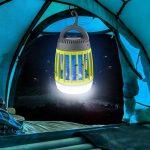 WloveTravel Mosquito Killer, 3en 1Bug Zapper lampe Lanterne de camping d'urgence et chargement 2200mAh Batterie rechargeable avec crochet rétractable 3modes lumières Green de la marque WloveTravel image 4 produit