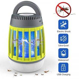WloveTravel Mosquito Killer, 3en 1Bug Zapper lampe Lanterne de camping d'urgence et chargement 2200mAh Batterie rechargeable avec crochet rétractable 3modes lumières Green de la marque WloveTravel image 0 produit