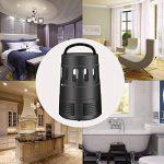 XDODD Lampe Anti-moustique LED Destructeur de Moustique Interieur Électronique Zapper Lampe est les Meilleures Sécurises et Efficaces Lampe pour Anti-moustique/Anti-insectes UV -lumière 5W Noir de la marque XDODD image 6 produit