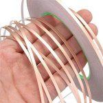 Yakamoz 3 PACKS 25m Ruban de Feuille de Cuivre Adhésif Avec Double Conductivité Pour Blindage EMI, Vitrail, Artisanat, Anti-limaces, Réparations électriques, Soudure, Circuits Papier 6mm 8mm 10mm de la marque Yakamoz image 4 produit