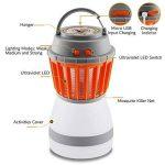 YAMI 2-en-1 Tueur de moustiques & Lanterne de camping Tente Lumière IP67 Imperméable à l'eau Bug Zapper LED Lampe Charge Par USB pour Extérieur et Urgences de la marque YAMI image 2 produit
