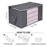 Yosoo 3 × Sac de Rangement en Tissu à Charbon de Bambou Boîte de Vêtement à Grande Taille de 53 Pouces Panier Organiseur Gris de la marque Yosoo image 2 produit