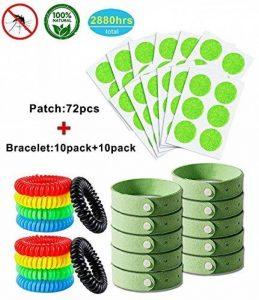 YSense Anti-Moustiques Bracelets (x20) et Patchs (x72), Bandes Naturelles, sans Deet de la marque YSense image 0 produit