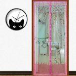 YULAN Home Rideau anti moustique magnétique souple Rideau Porte automatique d'été style en maille filet, Green90* 210cm de la marque YULAN image 2 produit