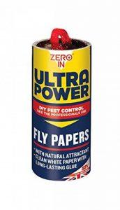 Zero en Ultra Power Fly papiers (sans substances toxiques, Tue les insectes, utilisation dans les maisons, dépendances et des locaux commerciaux), Lot de 24 de la marque Zero In image 0 produit