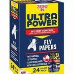 Zero en Ultra Power Fly papiers (sans substances toxiques, Tue les insectes, utilisation dans les maisons, dépendances et des locaux commerciaux), Lot de 24 de la marque Zero In image 1 produit