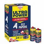Zero en Ultra Power Fly papiers (sans substances toxiques, Tue les insectes, utilisation dans les maisons, dépendances et des locaux commerciaux), Lot de 24 de la marque Zero In image 2 produit