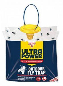 Zero en Ultra Power Piège à mouches extérieur (jetables, refermable, utilisation en jardins, peut contenir jusqu'à 20000mouches) de la marque Zero In image 0 produit
