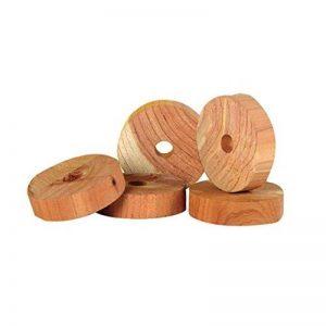 Zero In Lot de 10anneaux antimites en bois de cèdre pour vêtements Efficace, sans produits chimiques Répulsif À enfiler sur cintre dans les armoires de la maison de la marque Zero In image 0 produit