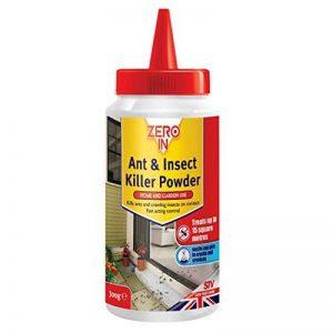 Zero In Poudre anti-fourmis et anti-insectes - Produit de protection contre les insectes (fourmis, cloportes, cafards et perce-oreilles) pour la maison et le jardin - Traite jusqu'à 15mètres carrés - 300g de la marque Zero image 0 produit