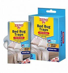 Zero In ZER967 Set de 3 Piège à Punaises de Lit, Blanc, 2.4 x 8.30 x 14.5 cm de la marque Zero In image 0 produit